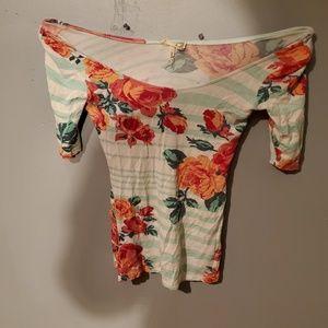 NWOT flowered shirt